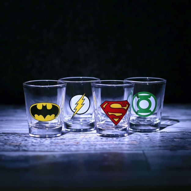 DC Comics - Kieliszki Super Bohaterów prezent dla chłopaka