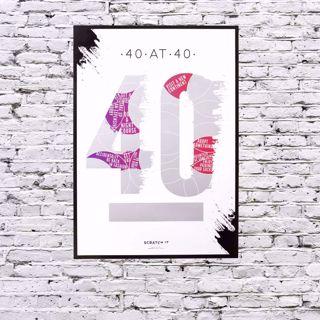Plakat Zdrapka – 40 Urodziny prezent warszawa