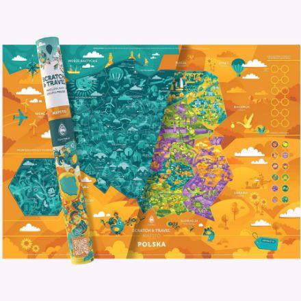 Familijna Mapa Zdrapka – Polska prezent dla dziecka