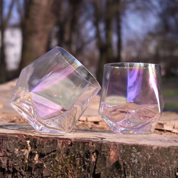 Kolorowe Diamentowe Szklanki do Whisky prezent dla szefowej