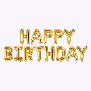 Balony Foliowe Happy Birthday – Złote akcesoria na urodziny sklep stacjonarny warszawa