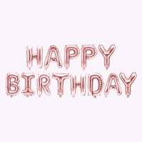 Balony Foliowe Happy Birthday – Różowo-Złote urodzinowe ozdoby sklep stacjonarny w warszawie