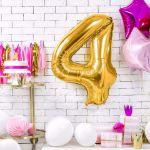 Balony Foliowe Cyfry prezent na urodziny