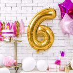 Balony Foliowe Cyfry gadżety urodzinowe