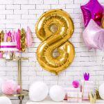 Balony Foliowe Cyfry dekoracje urodzinowe na 18