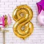 Balony Foliowe Cyfry dekoracje urodzinowe na 18 sklep stacjonarny