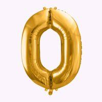 Balony Foliowe Cyfra 0 ozdobne balony z helem na urodziny