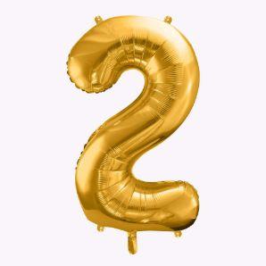 Balony Foliowe Cyfra 2 balony z helem na urodziny