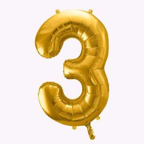 Balony Foliowe Cyfra 3 gadżety urodzinowe