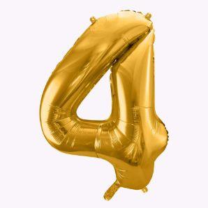 Balony Foliowe Cyfra 4 ozdoby urodzinowe sklep stacjonarny warszawa