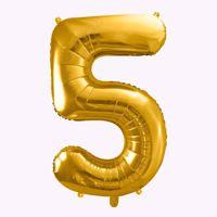 Balony Foliowe Cyfra 5 prezent na urodziny 50 tka