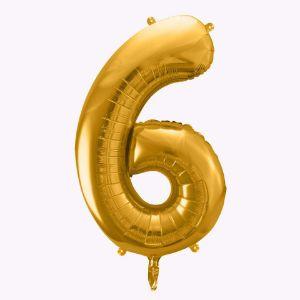 Balony Foliowe Cyfra 6 balony urodzinowe sklep stacjonarny