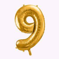 Balony Foliowe Cyfra 9 ozdoby na urodziny dla dziecka sklep stacjonarny