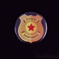 Przypinka – Odznaka – Ochrona Panny Młodej gadżety na panieński sklep warszawa