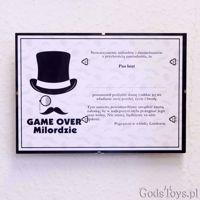 Certyfikat Kawalerski Game Over – Milordzie Wąsy kawalerski sklep stacjonarny warszawa