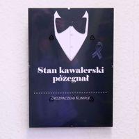 Certyfikat Kawalerski – Stan Kawalerski Pożegnał – Smoking prezent na kawalerski wysyłka