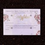 Certyfikaty na Wieczór Panieński prezent dla młodej warszawa