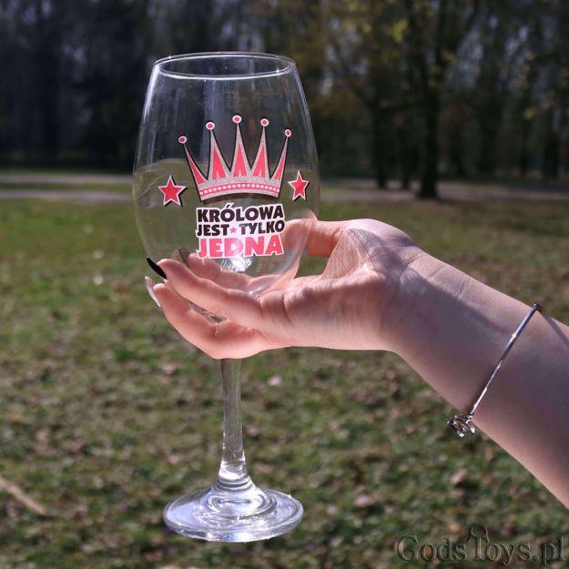 Wielki Kielich do Wina – Królowa Jest Tylko Jedna prezent dla dziewczyny