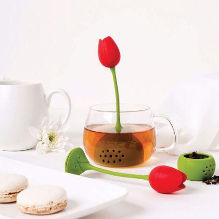 Zaparzaczka do Herbaty Tulipan prezent dla dziewczyny