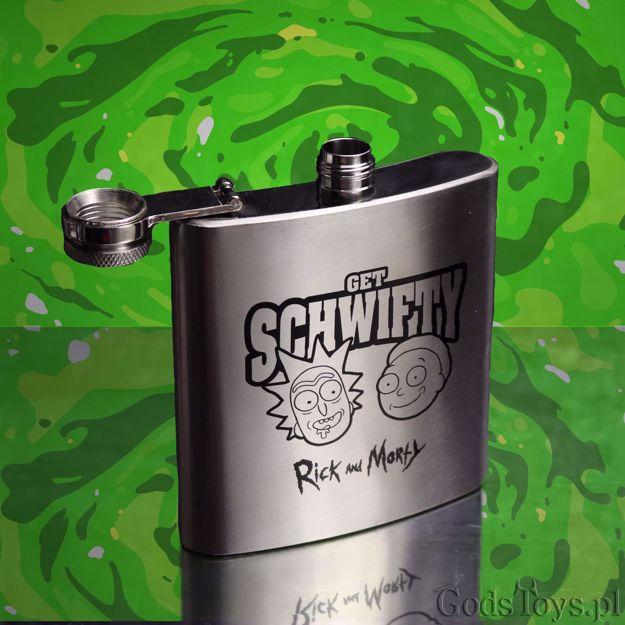 Rick and Morty – Piersiówka Get Schwifty  prezent dla chłopaka