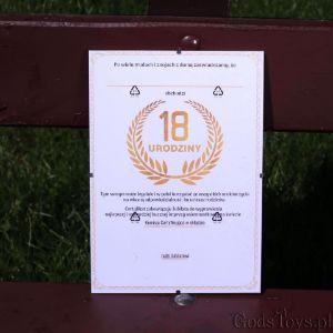 Certyfikat na 18 urodziny śmieszna pamiątka z urodzin dla chłopaka
