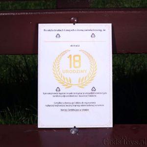 Certyfikat na 18-tke dla dziewczyny i chłopaka pamiątka z urodzin