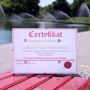 Certyfikat na 18-tkę prezent dla niej na urodziny
