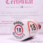 Urodzinowy papier toaletowy śmieszny prezent na 18-tkę dla dziewczyny