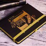 Harry Potter złoty notes hufflepuff akcesoria biurowe z harrego pottera
