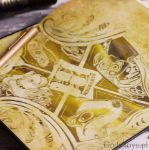 Harry Potter złoty notes hufflepuff prezent dla dziewczyny