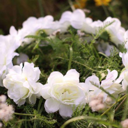 Wianek dla panny młodej biały wianki na wieczór panieński