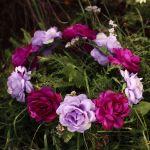 Wianek Piwonia fioletowa akcesoria na wieczór panieński dla niej