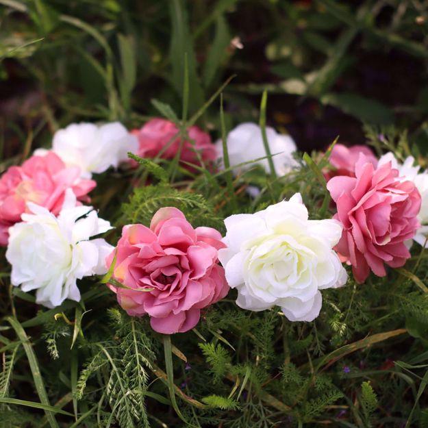 Wianek Piwonia kremowa i brudny róż piękne wianki na wieczór panieński