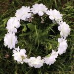 Wianek dla Panny młodej biały piękny wianek dla niej