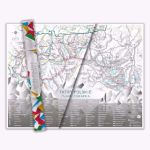 Mapa zdrapka szlaki tatr prezent dla emeryta lubiącego chodzić po górach