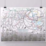Mapa zdrapka szlaki tatr prezent na urodziny