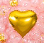 Balon wielkie serce pomysł na dekoracje na urodziny balony z helem