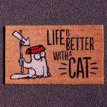 Wycieraczka Kot simon prezent dla kociarza warszawa