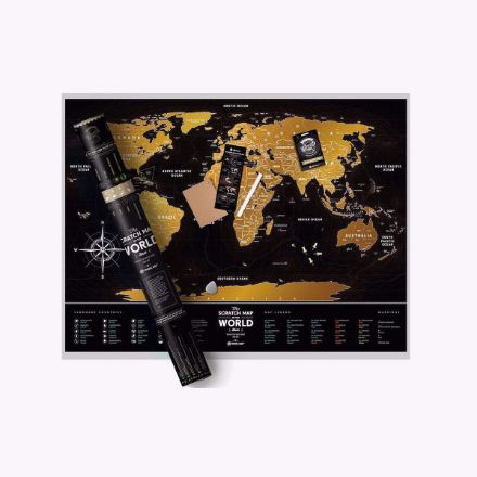Mapa zdrapka black world prezent na urodziny dla mężczyzny
