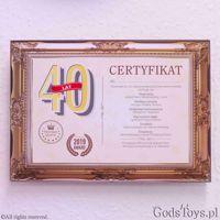 Certyfikat urodzinowy dla 40 latki prezent na urodziny dla mamy