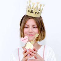 Korona sweet love brokatowa korona na prezent dla solenizanta