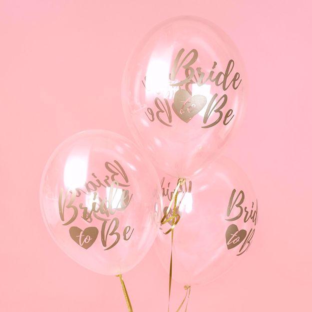 Przeźroczyste balony bride to be na wieczór panieński