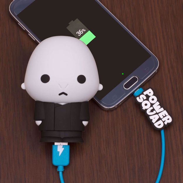 Powersquad powerbank lord voldemort gadżety do telefonu z harrego pottera