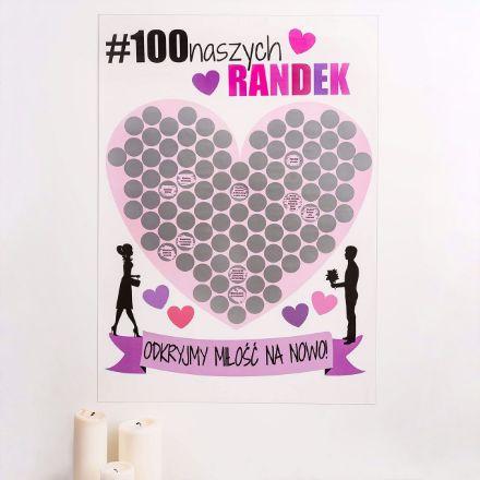 Mapa zdrapka 100 pomysłów na randkę prezent dla pary