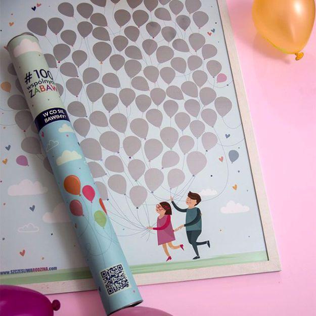 Mapa zdrapka 100 pomysłów na zabawę dla dzieci prezent dla rodziców
