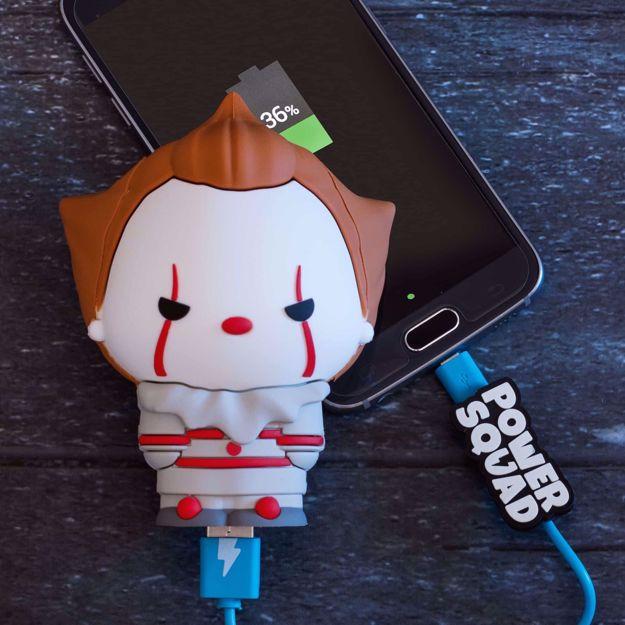 PowerSquad - Powerbank Pennywise gadżety z filmu TO prezent  do telefonu dla niego