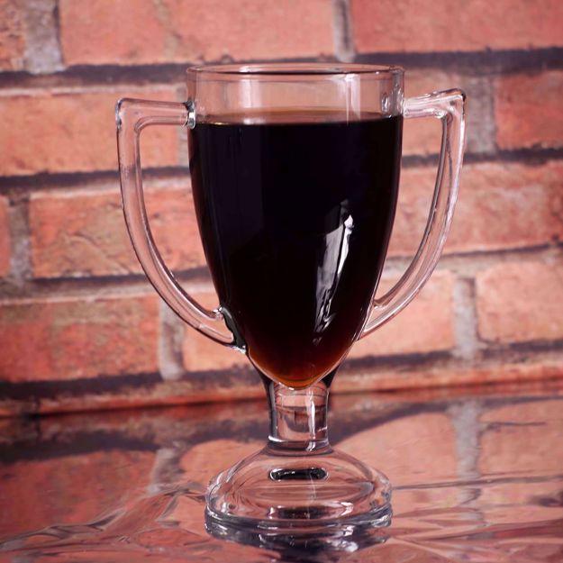 Szklanka Mistrza szklanka w kształcie pucharu śmieszny prezent na urodziny