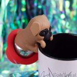 Zaparzaczka mops akcesoria do herbaty i jej parzenia