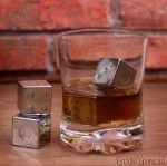 Chłodzące Kości do Gry Metalowe kostki nie rozpuszczające się w napoju