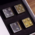 Chłodzące Kości do Gry Metalowe kostki do chłodzenia w kształcie kostek do gry poker